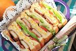 蜂蜜芥末里肌蔬菜三明治