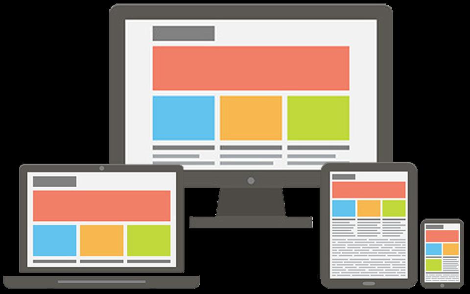 響應式網站在不同裝置的螢幕寬度,會自動改變顯示的樣式