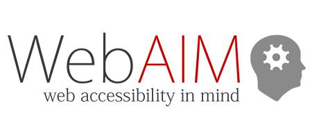 WebAIM 英文官網連結圖檔